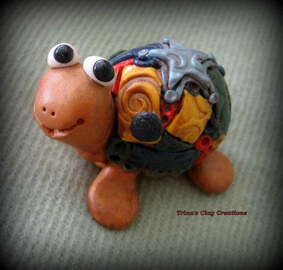 Polymer Clay Mosaic Turtle