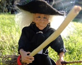 1/12th scale miniature witch handmade doll OOAK for the dolls house - Shirley