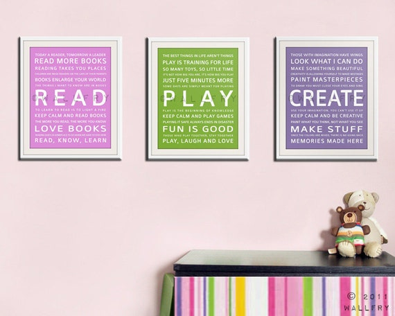 Children S And Kids Room Ideas Designs Inspiration: Childrens Art For Kids. Inspiration Typography Prints