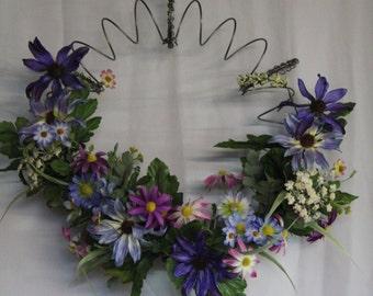 Spring Wreath, Summer Wreath, Wild Flower Wreath, Bed Spring Wreath 58Q8G