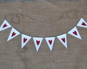 Valentines Banner .. Heart Banner .... Weddding ... Photo .... Burlap Banner