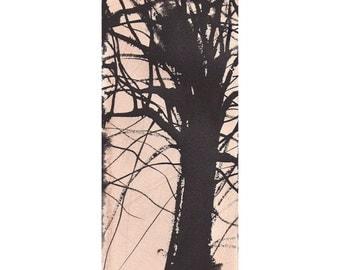 Grid Series No.1 bare trees 2 of 9, original watercolor