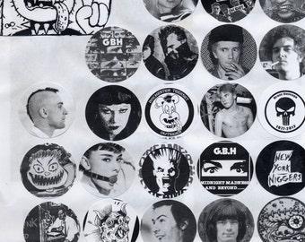 Punk Rock TeenSet buttons pins
