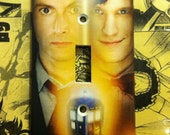 Doctor Who Matt Smith David Tennant Tardis Light Switch Cover - Single or Double Switchplate - Switch Plate Cover