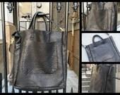 Jerome handbag, handmade leather bag, black purse tote, oversized shoulder bag, black lamb leather, handmade leather bags, handbags & totes