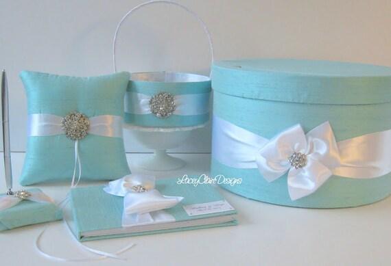 tiffany blue wedding guest book set