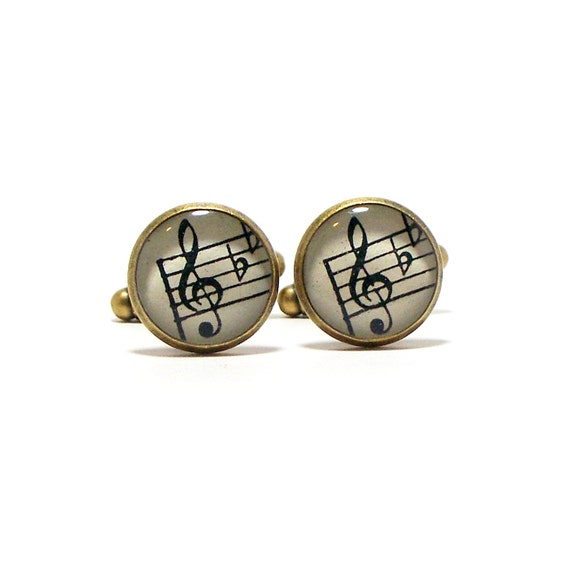 Treble Clef Cufflinks 1941 Vintage Sheet Music