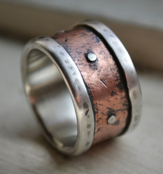 Reserved For Kristi Mens Wide Band Wedding Ring Rustic