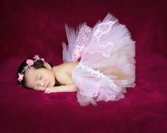 Vintage Tutu- Infant Tutu- Baby- Tutu- Newborn Tutu- Newborn Photo Prop- Tutus- Tutu Skirt- Available In Size 0-24 Months