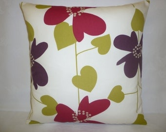 """Pillow Color Choices Purple Green Designer Cushion Cover Throw Scatter Pillow. ONE x 16"""" (40cm)"""