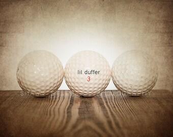Vintage Golf  Balls Lil Duffer Photo Print,Decorating Ideas, Wall Decor, Wall Art,  Kids Room, Nursery Ideas, Gift Ideas,