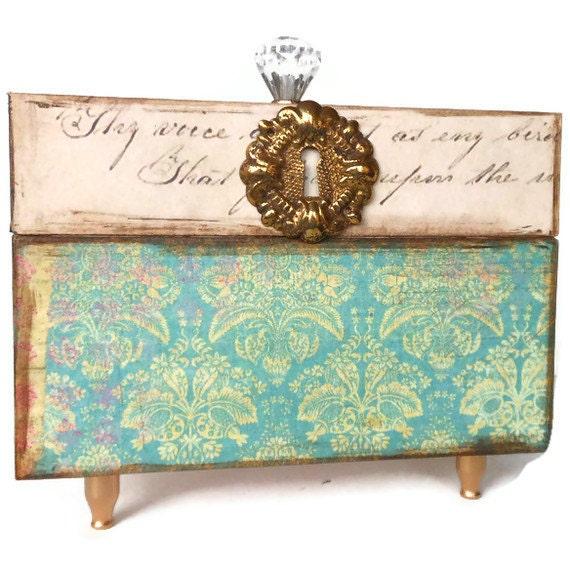 Decorative Recipe Box 2: Recipe Card Box With 4 X 6 Recipe Cards Decorative Storage Box