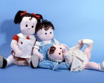 Mollie Baby, Puddin and Baby Sister, 3 cute, easy to sew doll patterns from Carolee Creations SewSweet Dolls