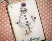 Easter Tags - Cute Little Chick in his Easter Outfit - Victorian - Easter Greetings - Set of Six