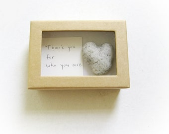 Unique Thank You Cards unique valentine's card for her a heart shaped rock in a