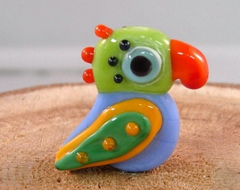 Tropical Parrot 5 by Mystic Moon Beads SRA U5