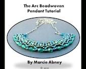 Beadweaving Tutorial - The Arc Beadwoven Pendant