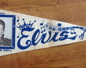 Elvis Presley Pennant The One And Only King Of Rock And Roll