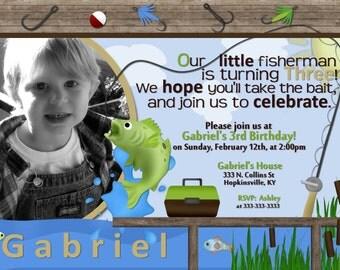 Fishing Printable Birthday Invite