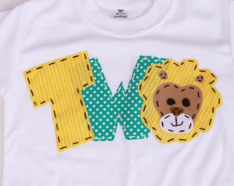 circus birthday shirt, two, lion, 2nd,  t shirt,circus theme, boy white