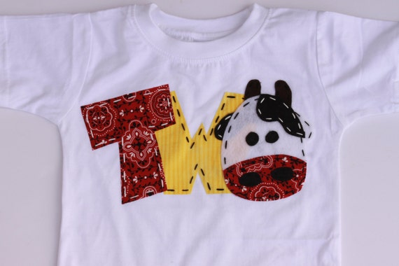 barnyard birthday shirt, two, cow, 2nd,  t shirt, barn yard, farm theme, boy white
