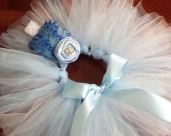 Baby Girl Blue Tutu and Headband Set