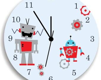 Boys Wall Clock, I am A Robot, Children Room Decor