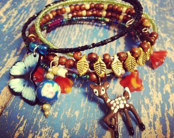 Enchanted Forrest  Mix & Match Bracelet  5  piece Set