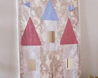 Doorway castle drop curtain