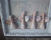 Clearance Angel ornaments handmade folk art decoration set of 4 bowl fillers unique home decor