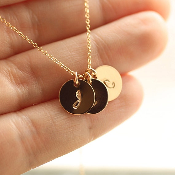 Choker Necklace Etsy: Dainty Gold Initial Necklace Gold Personalized Necklace