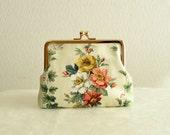 Frame purse - Gorgeous victorian floral clasp purse bag