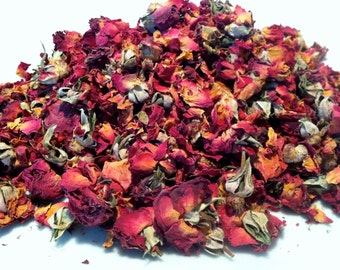 Organic Red Rose Petals - Great for potpourri, love sachets, stuffing dolls, gris-gris bags, incense, and lust workings.