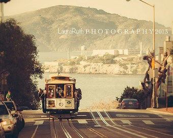 "San Francisco Photograph - Trolley Photograph  - Fine Art Photography - Urban Cityscape - Laura Ruth - ""Trolley"""