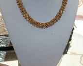 Necklace and Bracelet Demi Parure Citrine Glass Stones