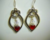 Antique SILVER, Czech Glass and CRYSTAL Earrings