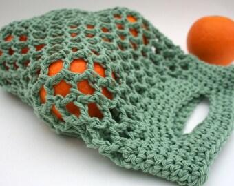 Farmers Market Bags -  Mini Reusable Cotton Produce Totes - Set of Three