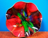 On SALE Vintage SEETUSEE Psychedelic Art Glass
