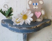 Wooden Shabby Chic Accent Shelf, Hand crafted Distressed Cottage Style, Rustic Country with many color