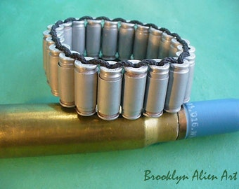 Unique Bold Bullet Shells Paracord Bracelet  - 40 Caliber and 9mm Bullets
