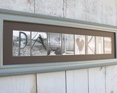Any Size Custom Name Frame - Letter Art Photography - Choose Your Frame, Matting and Photos - Bride and Groom Gift - Couples Gift