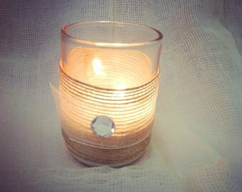 Wedding Candle Holder // Tea Light or Votive // Shabby Chic // Rustic Wedding Decor