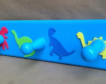 Dinosaur wooden coat rack - 3 hooks