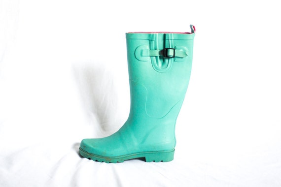 Teal Rain Boots - Cr Boot