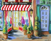 Paris Scenic Original Painting canvas art gift for her 16 x 20 Original by Elaine Cory
