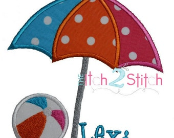 Life's a Beach Applique Design for Machine Embroidery INSTANT DOWNLOAD now available
