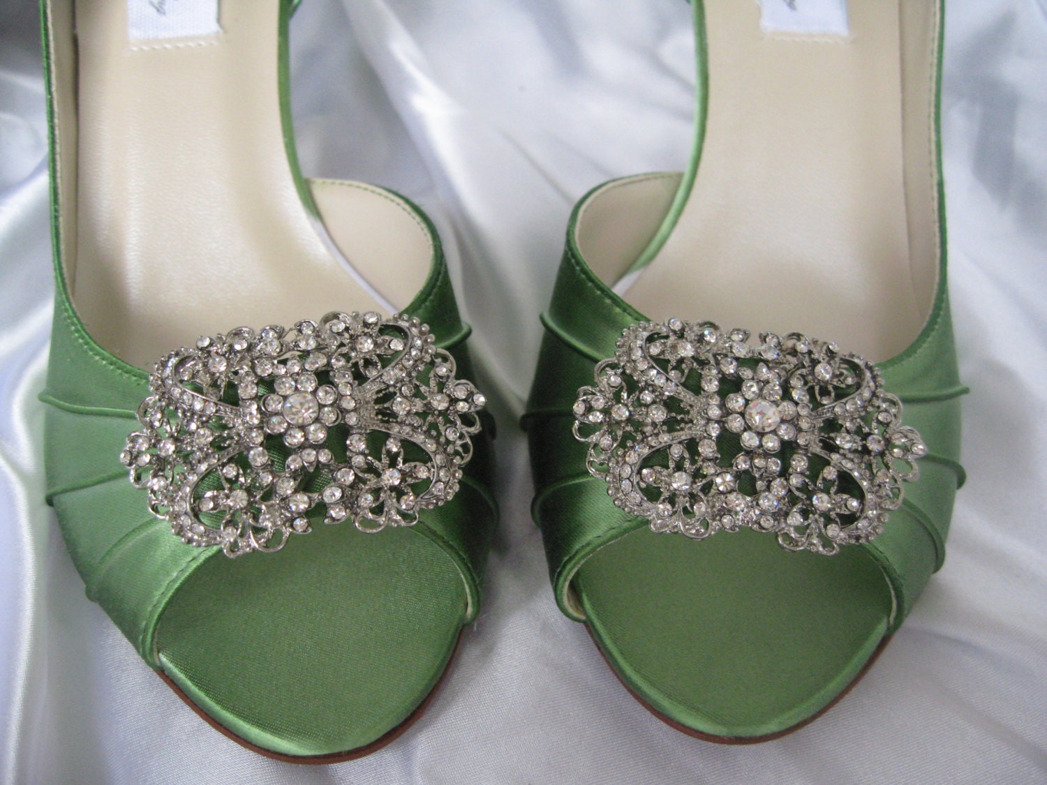 Wedding Shoes Apple Green Vintage Inspired Wedding Shoes with