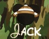 Disney Safari Themed Drawstring Backpack with monogrammed name