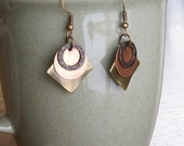 Fun and Light Layered Metal Earrings