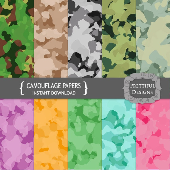 50% Off Sale Digital Camouflage Paper Pack  - Personal and Commercial Use - Camo (669)
